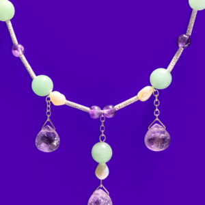 Suffragette inspired Three Drops Necklace